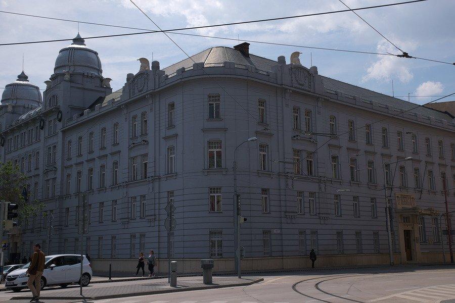 neoclassical building bratislava slovakia