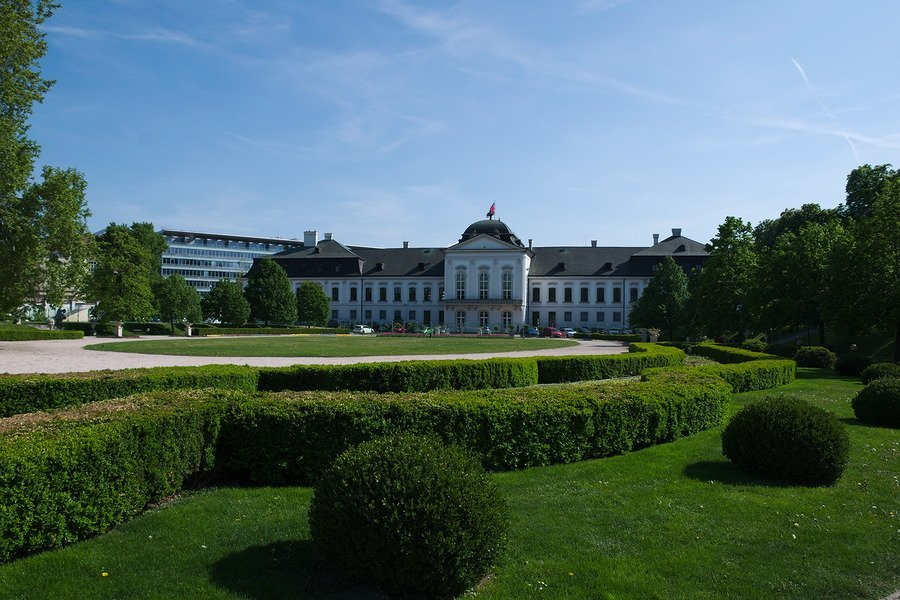 presidential palace garden bratislava slovakia