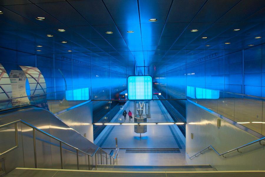 metro station hamburg germany